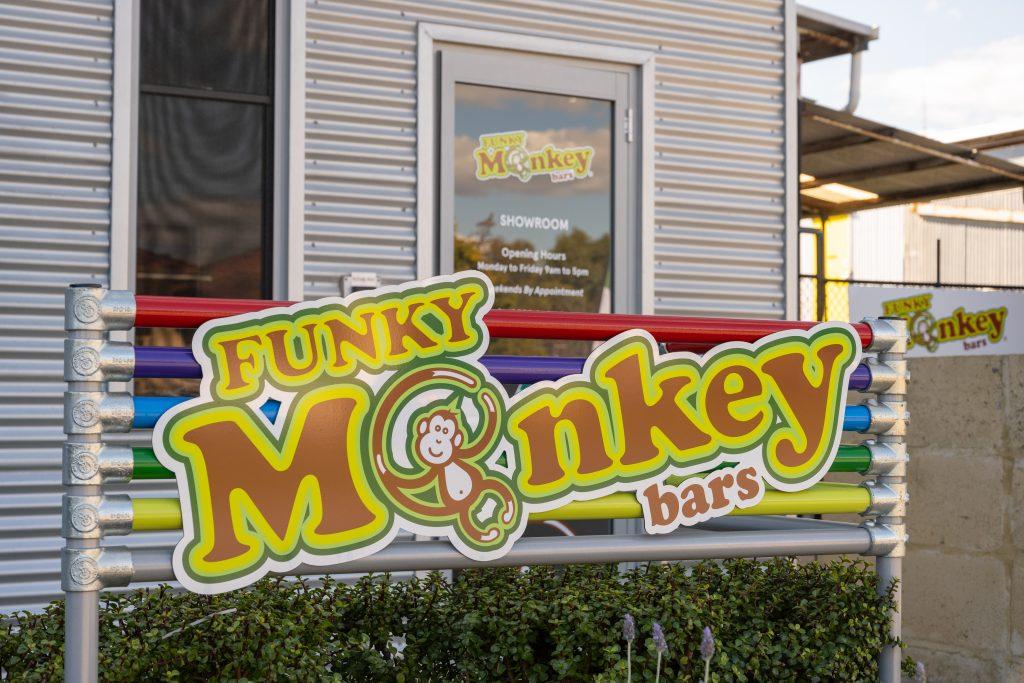 Funky Monkey Bars Showroom Entrance